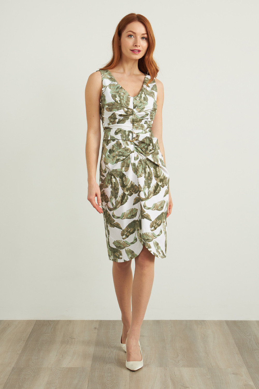 Joseph Ribkoff WHITE/MULTI Dresses Style 212066
