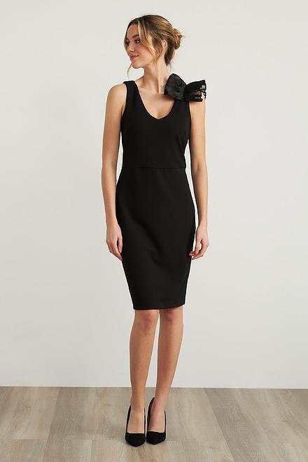 Joseph Ribkoff Ruffle Shoulder Dress Style 212074