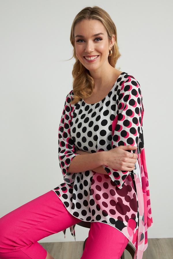 Joseph Ribkoff Black/White/Pink Shirts & Blouses Style 212087