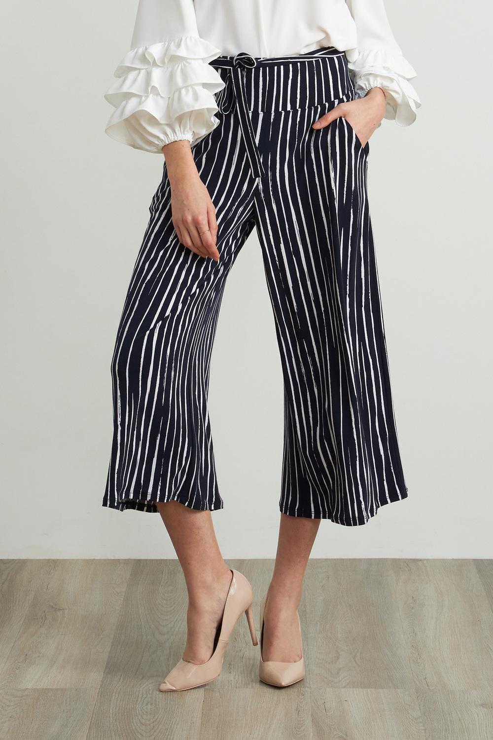 Joseph Ribkoff Pantalons Bleu Minuit/Blanc Style 212102