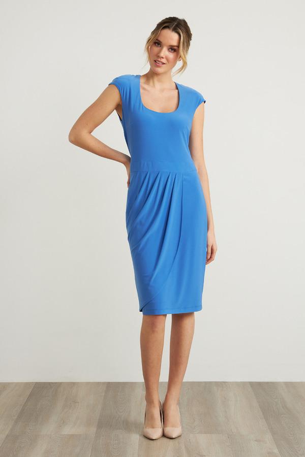 Joseph Ribkoff Cap Sleeve Dress Style 212106. Aegean Sea