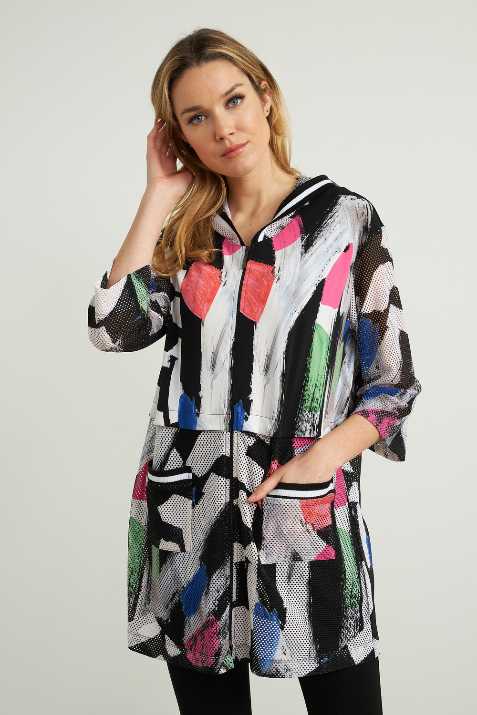 Joseph Ribkoff Black/White/Multi Tunics Style 212108