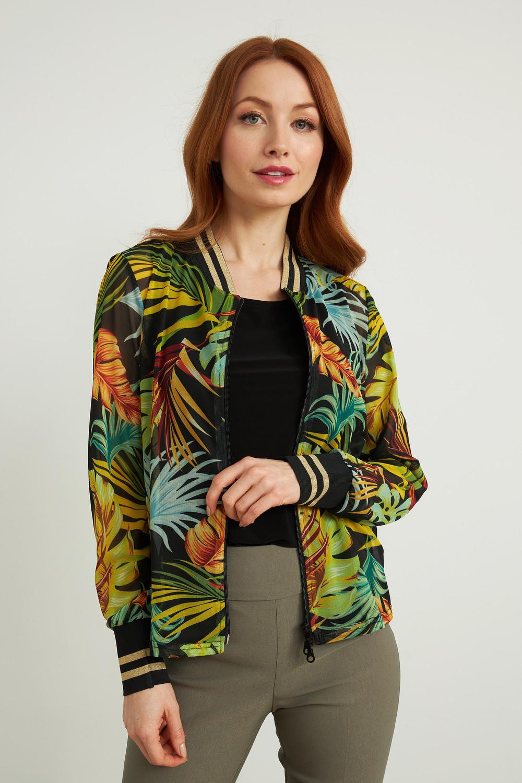 Joseph Ribkoff Black/Multi Shirts & Blouses Style 212121