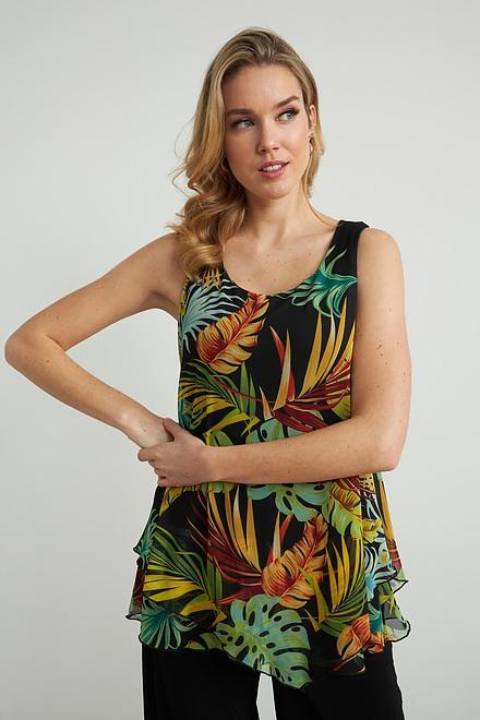 Joseph Ribkoff Palm Print Sleeveless Top Style 212122