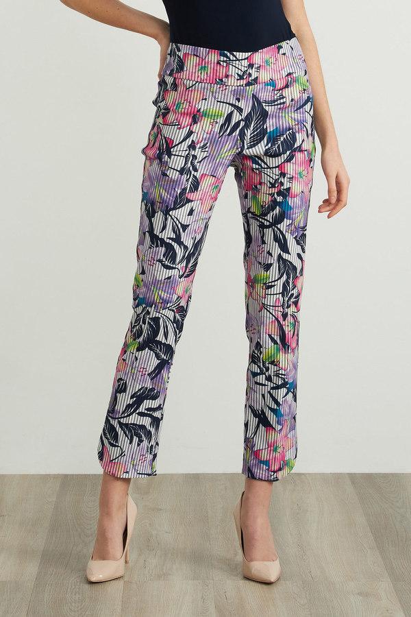 Joseph Ribkoff Floral Print Pants Style 212126. Multi