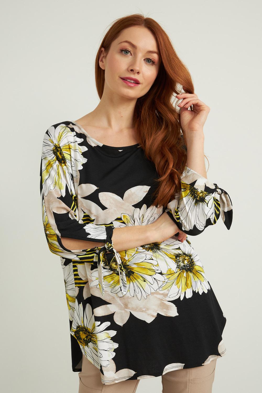 Joseph Ribkoff Black/Multi Shirts & Blouses Style 212138