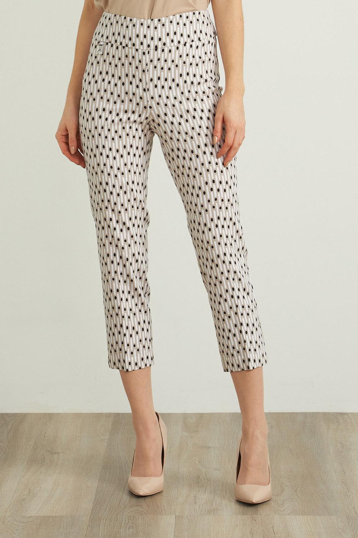 Joseph Ribkoff Pantalons Beige/Blanc/Noir Style 212141