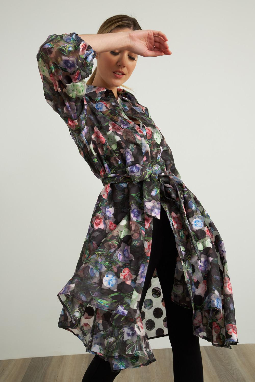 Joseph Ribkoff Black/Multi Outerwear Style 212144