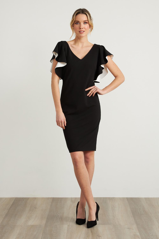 Joseph Ribkoff Robes Noir/Vanille Style 212146