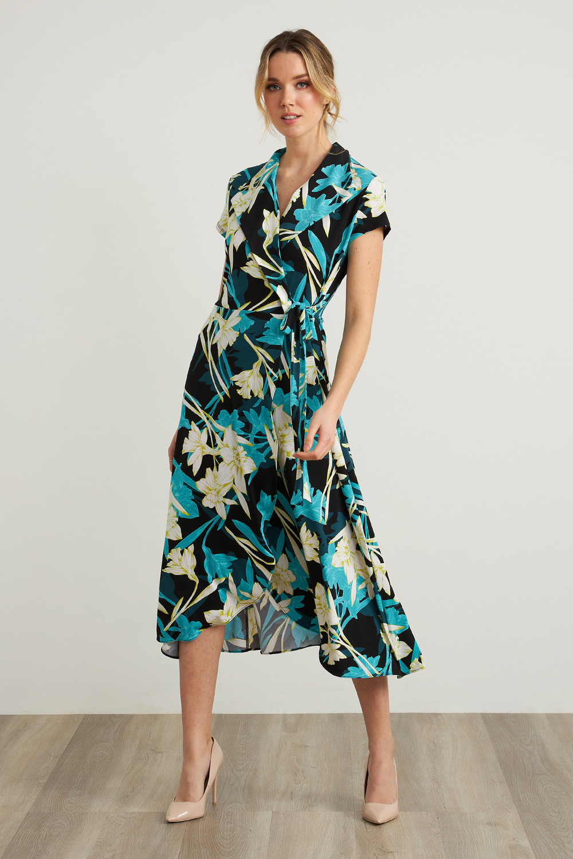 Joseph Ribkoff Robes Noir/Multi Style 212151