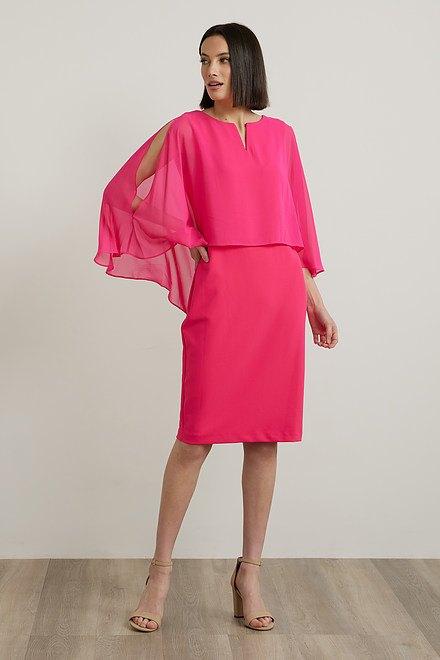 Joseph Ribkoff Chiffon Overlay Dress Style 212158
