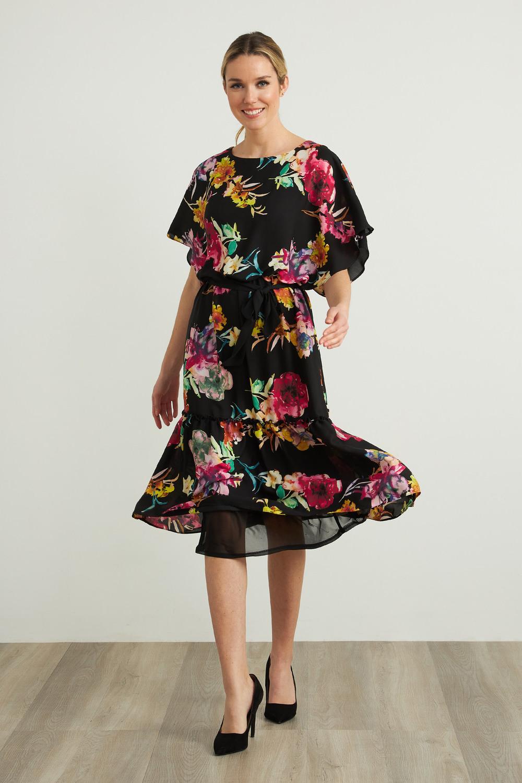 Joseph Ribkoff Robes Noir/Multi Style 212159