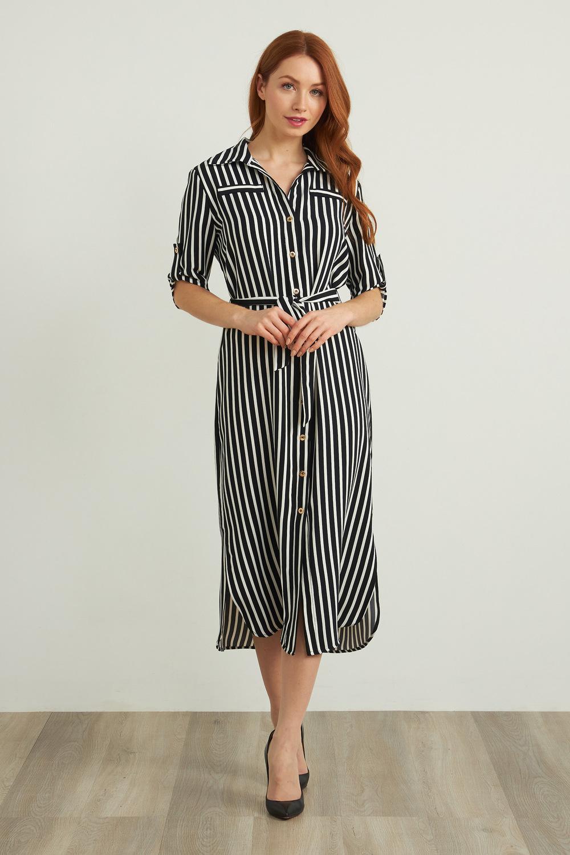 Joseph Ribkoff Robes Noir/Vanille Style 212162