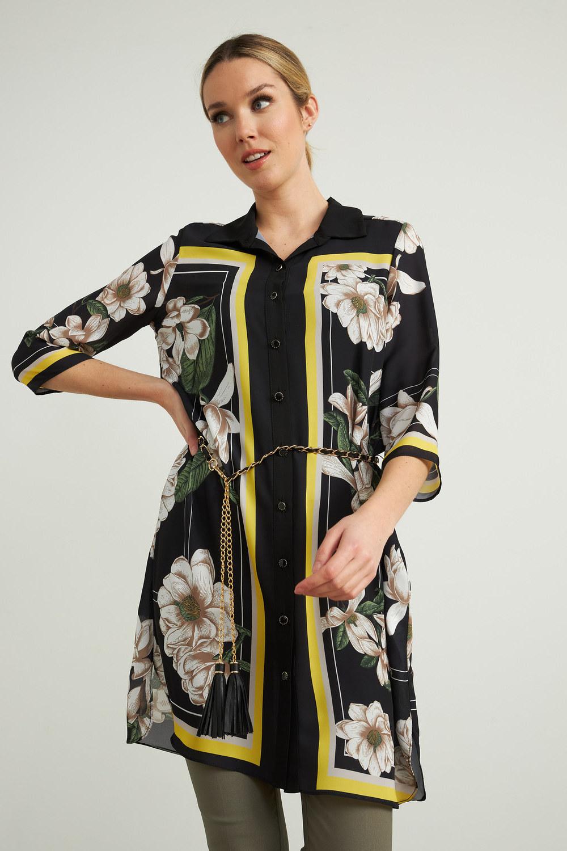 Joseph Ribkoff Black/Multi Dresses Style 212165