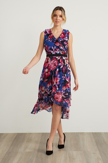 Joseph Ribkoff Floral V-Neck Dress Style 212169
