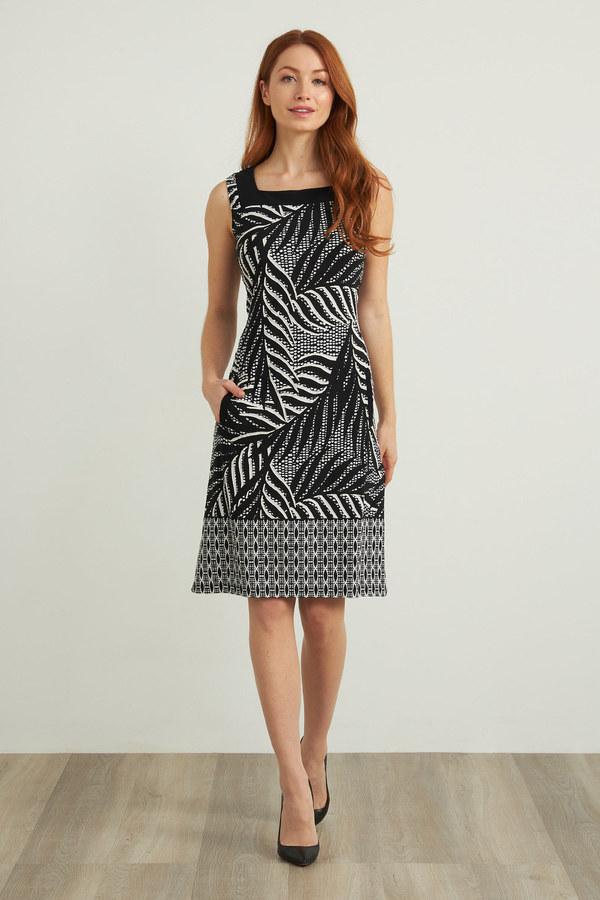 Joseph Ribkoff Black/Vanilla Dresses Style 212187