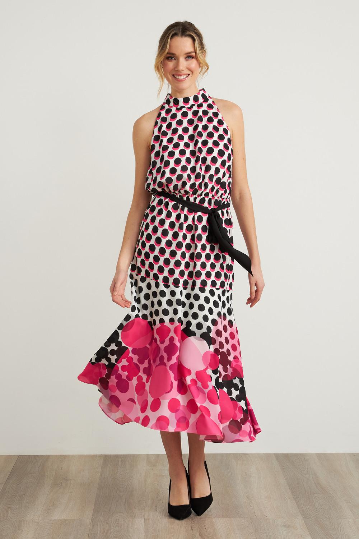 Joseph Ribkoff Black/White/Pink Dresses Style 212210