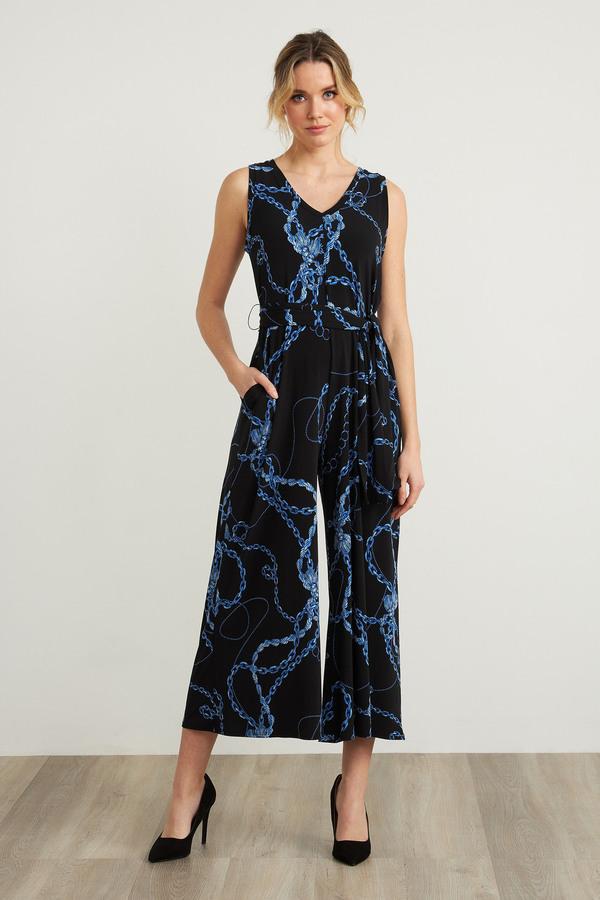 Joseph Ribkoff Chain Print Jumpsuit Style 212212