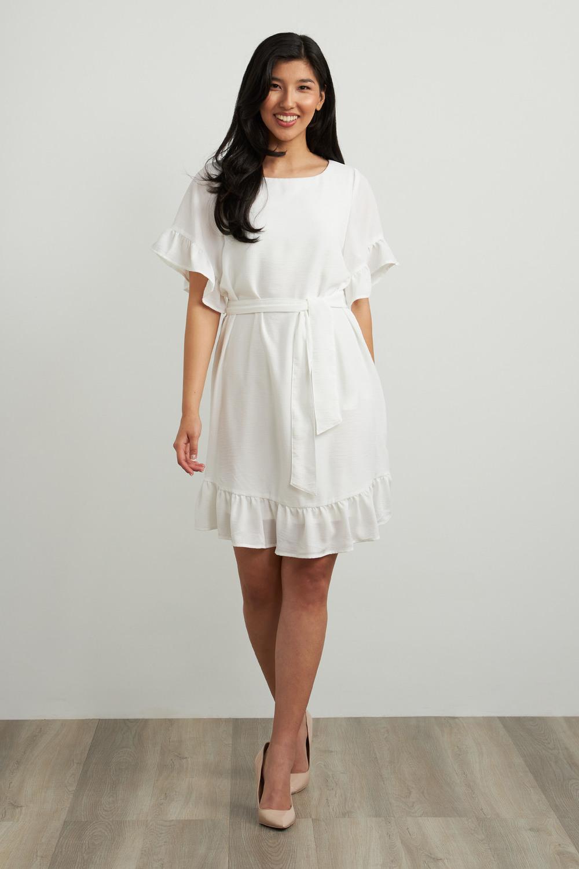 Joseph Ribkoff White Dresses Style 212217