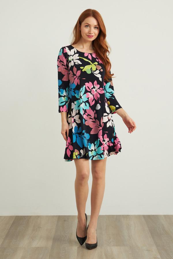 Joseph Ribkoff Floral Midi Dress Style 212219. Midnight Blue/Multi