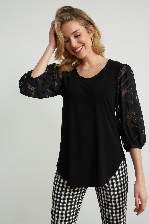 Joseph Ribkoff Black Shirts & Blouses Style 212229