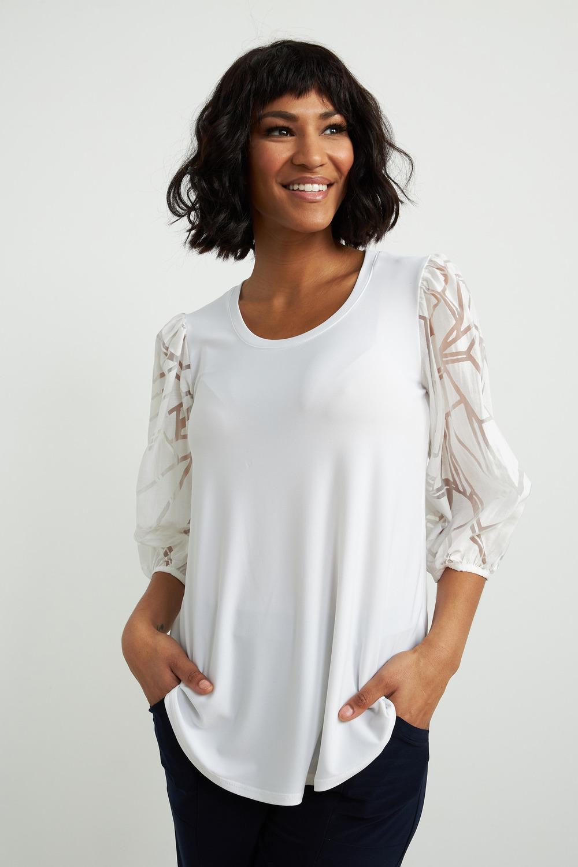 Joseph Ribkoff Tee-shirts et camisoles Vanille 30 Style 212229