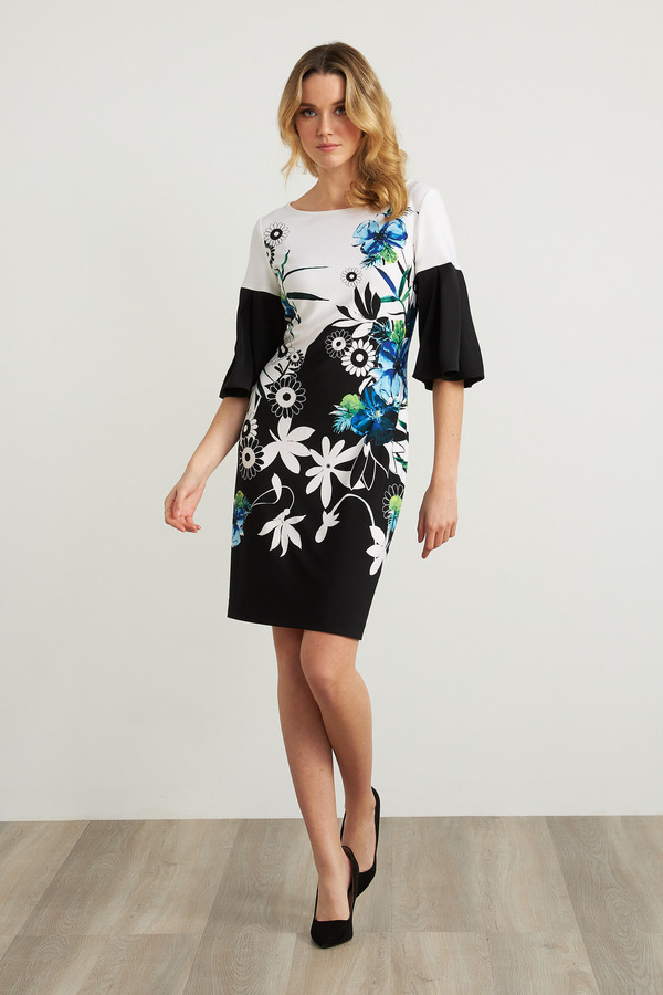 Joseph Ribkoff Robes Noir/Multi Style 212230