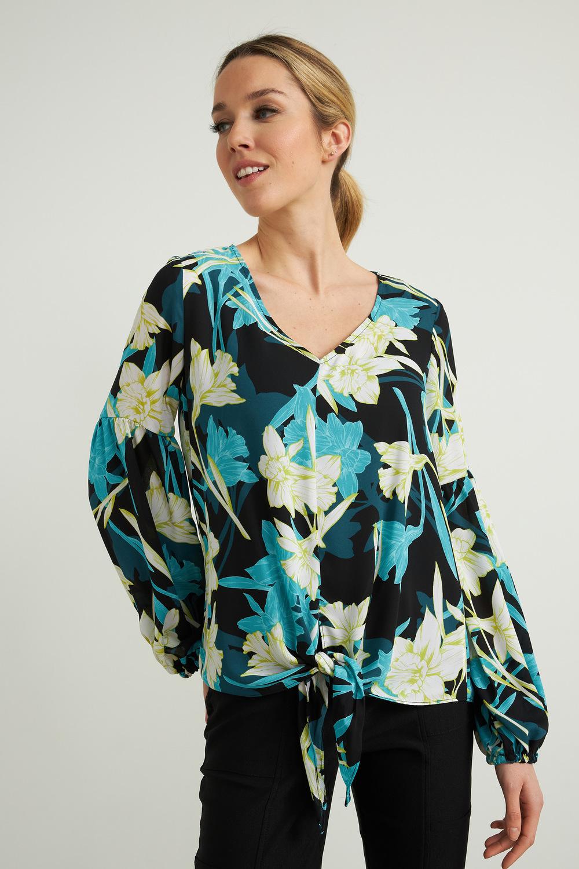 Joseph Ribkoff Black/Multi Shirts & Blouses Style 212239