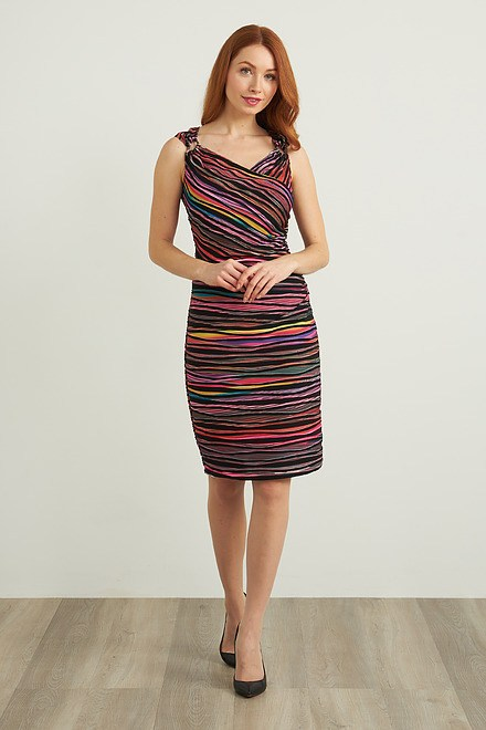 Joseph Ribkoff Black/Multi Dresses Style 212242