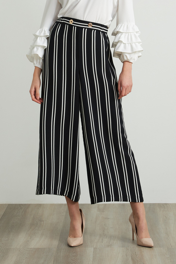 Joseph Ribkoff Black/Vanilla Pants Style 212244