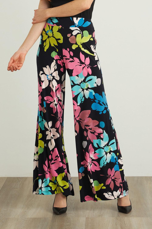 Joseph Ribkoff Midnight Blue/Multi Pants Style 212247