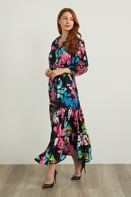 Joseph Ribkoff Robes Bleu Minuit/Multi Style 212256