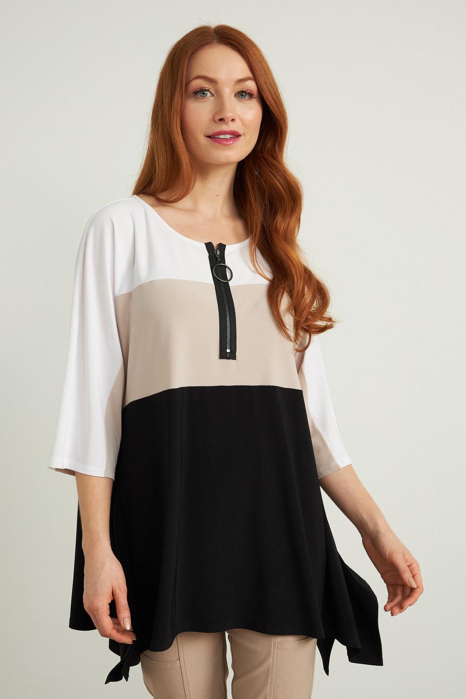 Joseph Ribkoff Black/sand/white Shirts & Blouses Style 212259