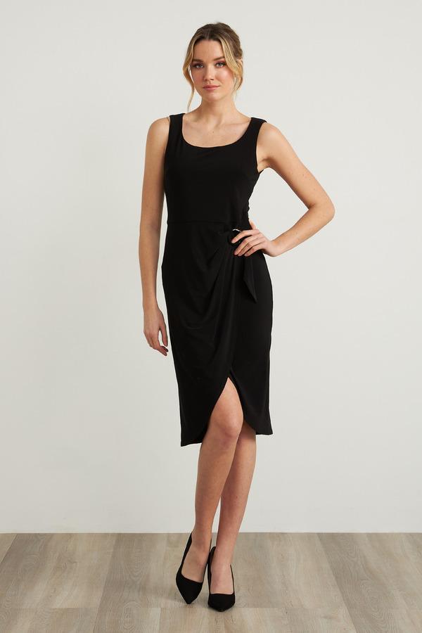 Joseph Ribkoff Ring Accent Dress Style 212265. Black