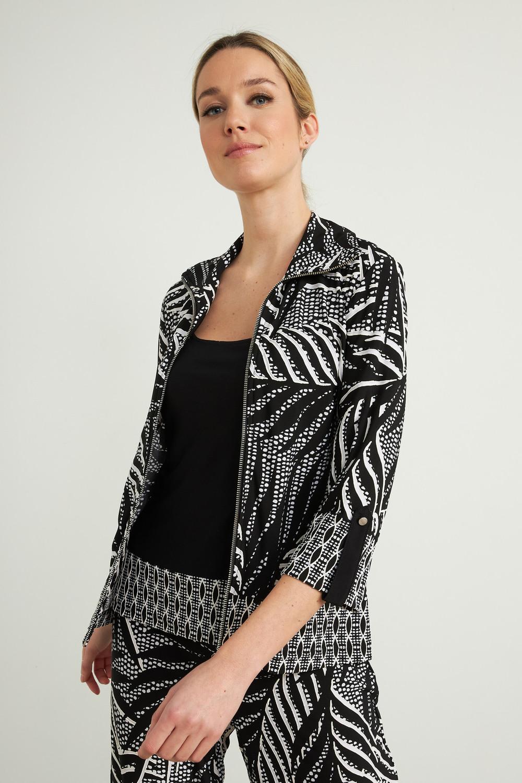 Joseph Ribkoff Black/Vanilla Shirts & Blouses Style 212266