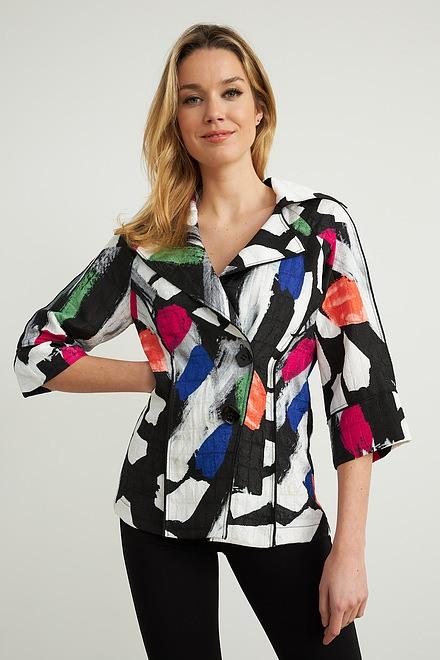 Joseph Ribkoff Abstract Print Jacket Style 212267