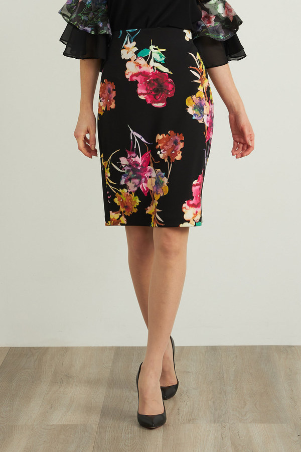 Joseph Ribkoff Black/Multi Skirts Style 212273