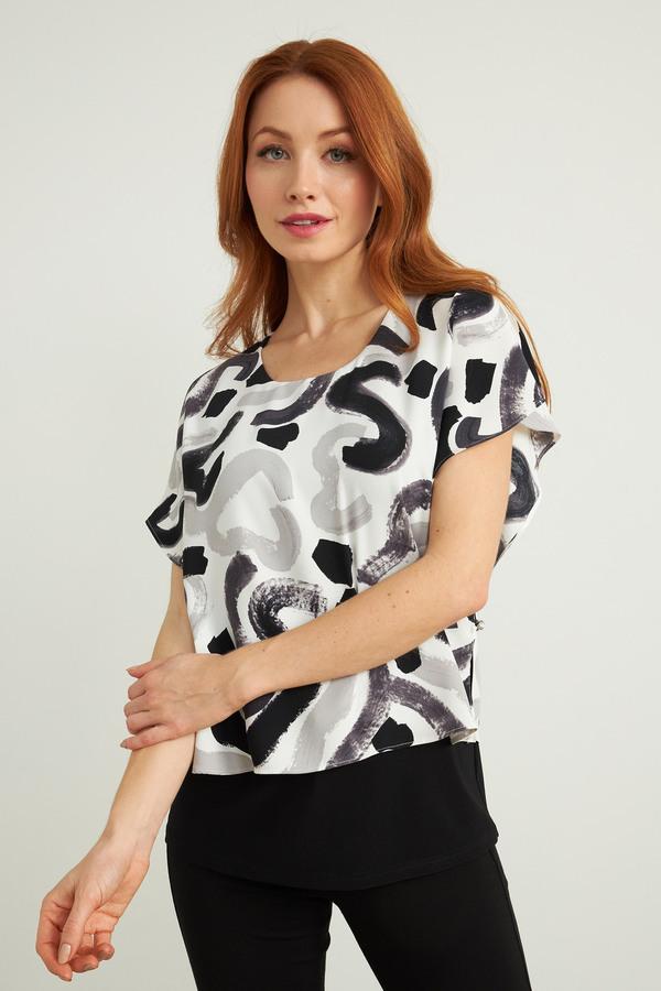 Joseph Ribkoff Chemises et blouses Blanc / Gris / Noir Style 212274