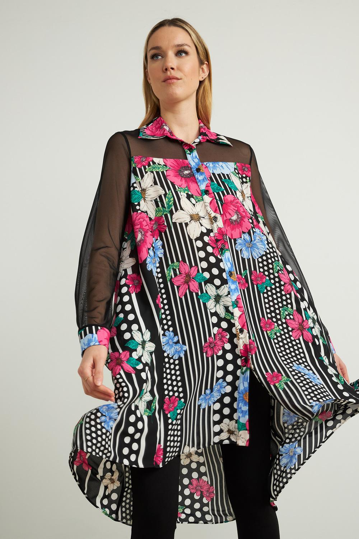 Joseph Ribkoff Robes Noir/Multi Style 212275