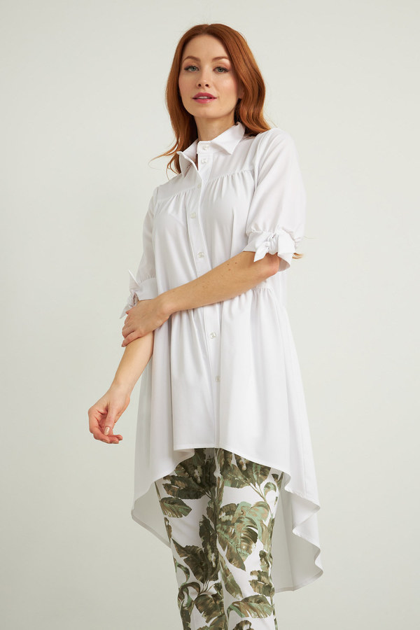 Joseph Ribkoff Button-Up Blouse Style 212285. Optic White