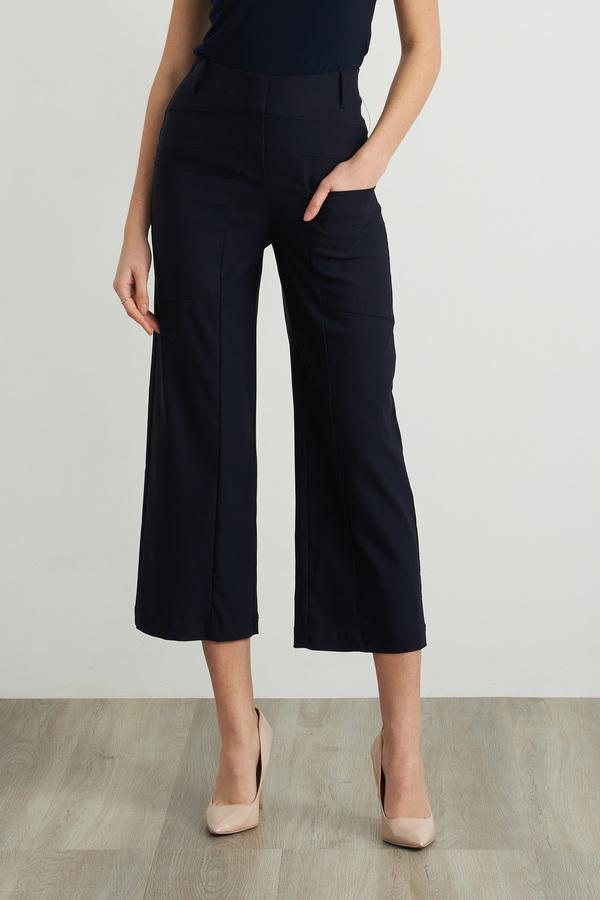 Joseph Ribkoff Wide Leg Cropped Pants Style 212286. Midnight Blue 40
