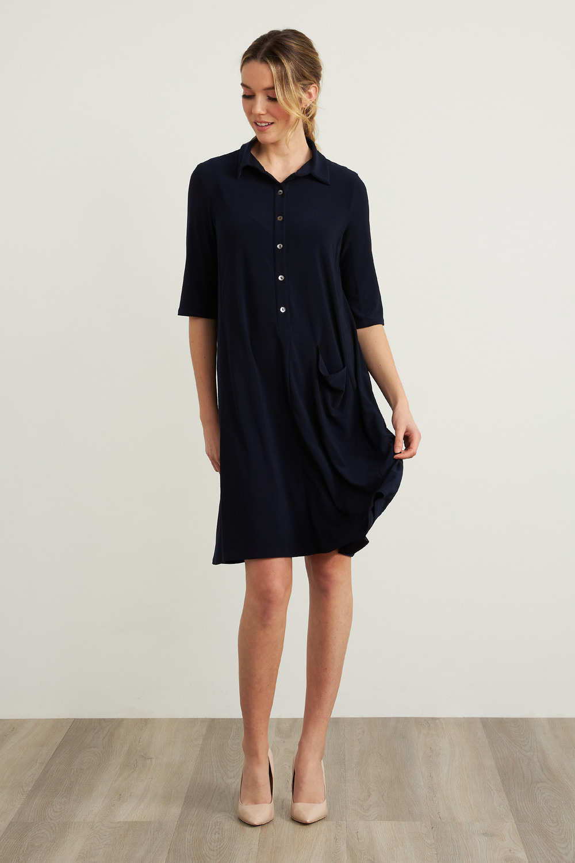 Joseph Ribkoff Robes Bleu Minuit 40 Style 212287