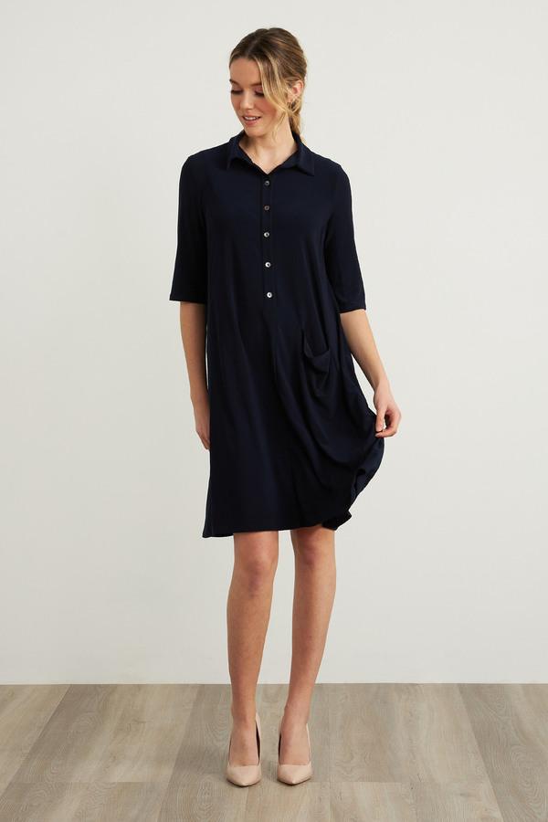 Joseph Ribkoff Shirt Dress Style 212287. Midnight Blue 40