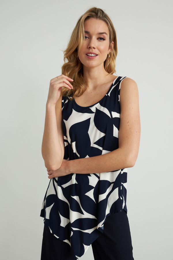 Joseph Ribkoff Navy/Offwhite Tees & Camis Style 212304