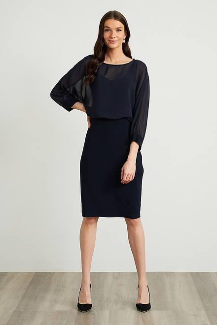 Joseph Ribkoff Sheer Bodice Dress Style 212309