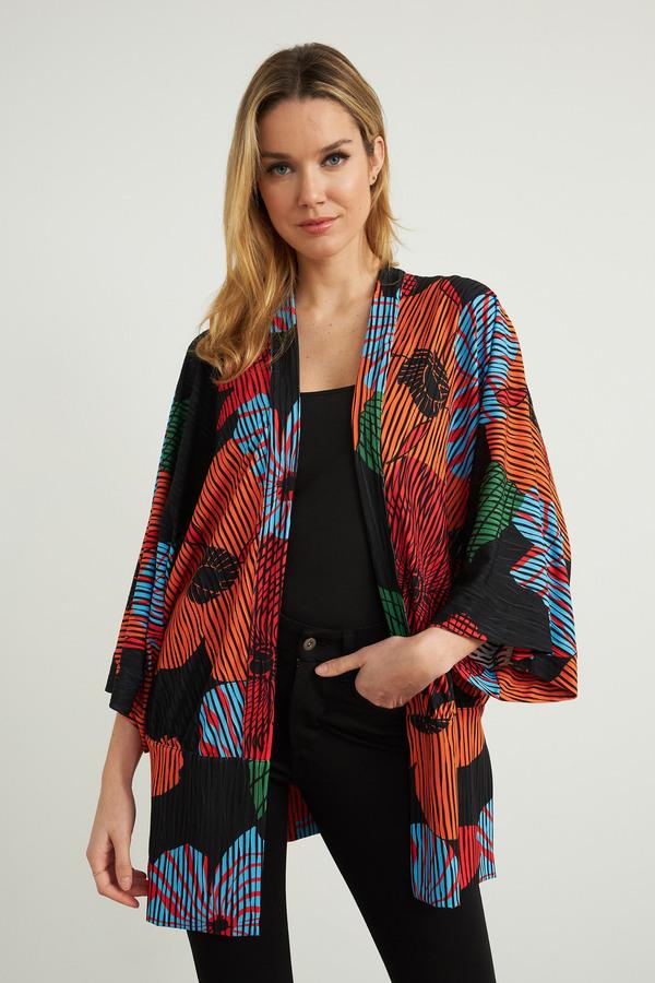 Joseph Ribkoff Black/Multi Cardigans Style 212310