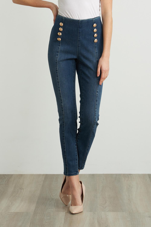 Joseph Ribkoff Pantalons Bleu Denim Foncé Style 212902