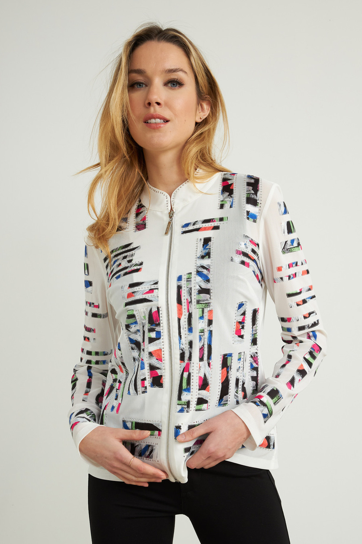 Joseph Ribkoff Vanilla/Multi Jackets Style 212917
