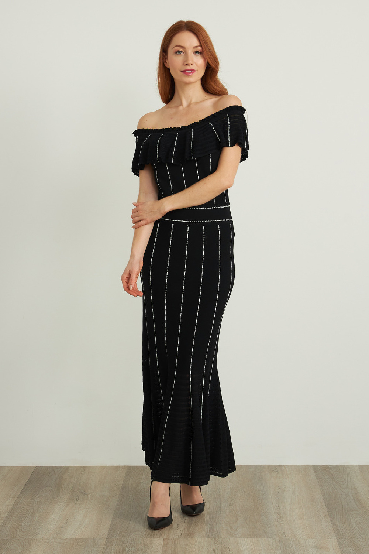 Joseph Ribkoff Black/Vanilla Dresses Style 212919