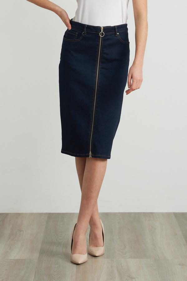 Joseph Ribkoff Denim Pencil Skirt Style 212925. Indigo